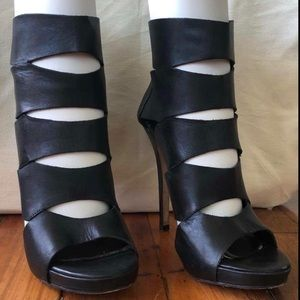 ALDO black high heel gladiator sandals